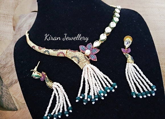 Antique Kundan Fusion Necklace
