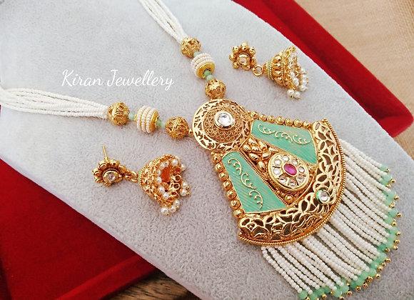 Parrot Meena Gold Polish Mala Set
