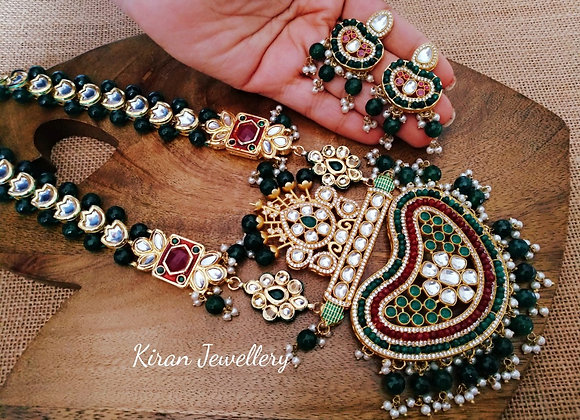 Royal Green Kundan Necklace
