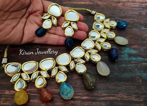 Multicolor Kundan Necklace