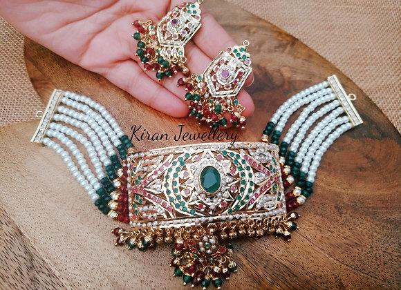 Jadau Choker Necklace Set