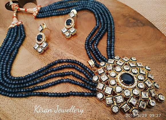 Blue Mala Kundan Necklace