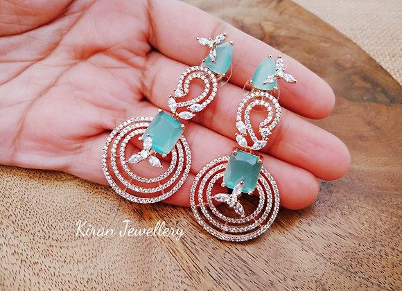 SeaGreen Stone Earrings