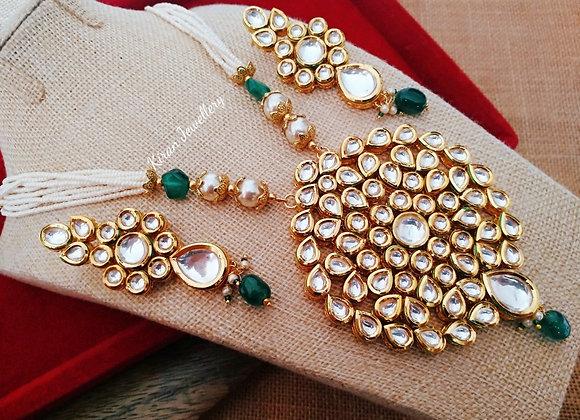 Kundan Necklace With Pearl Mala