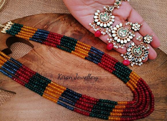 Multicolored Stylish Mala Set