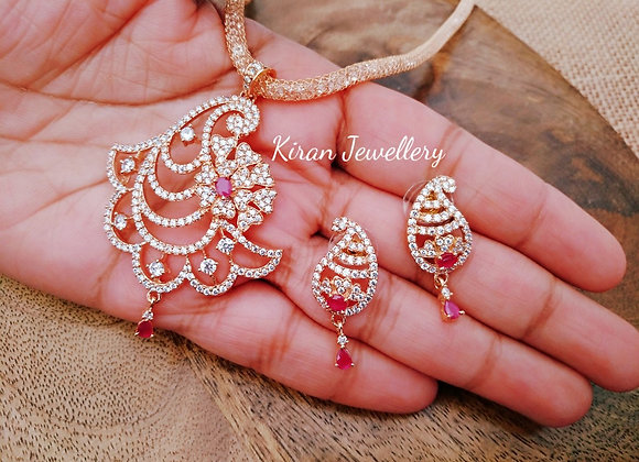 RoseGold Polish Pendant Set