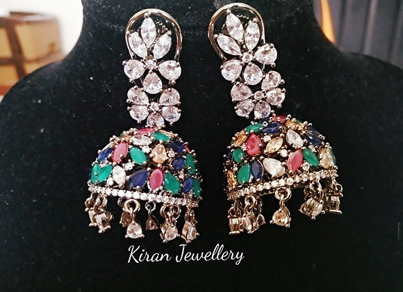 MultiColor Rotating Jhumki