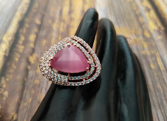 Elegant Pink Stone Ring