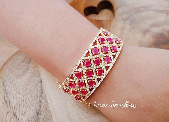 Elegant Ruby Bracelet