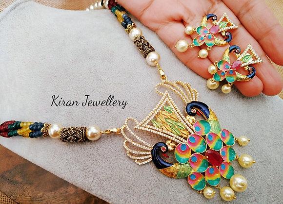 Multicolored AD Necklace