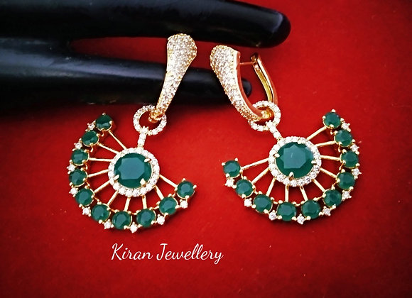 Stylish Green Colored Earrings