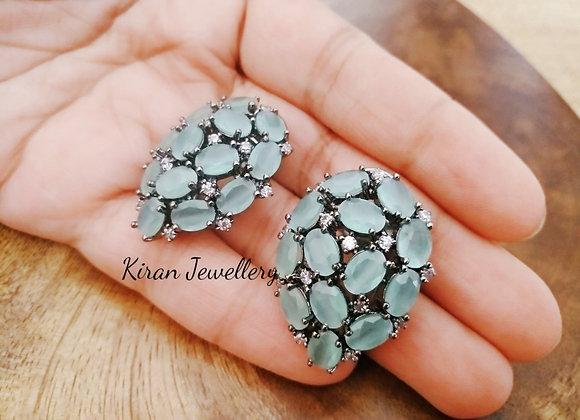 Mint Color Stone Studs