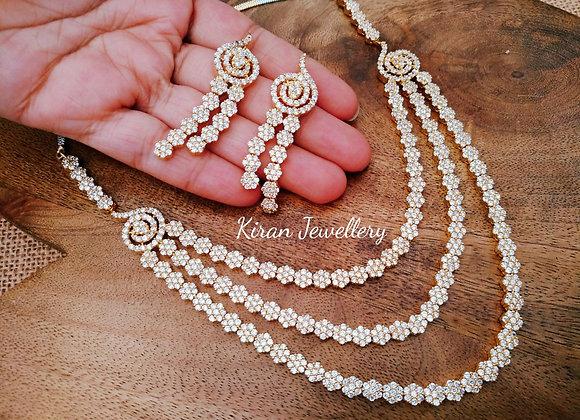 Multi-Layer RoseGold Polish Necklace Set
