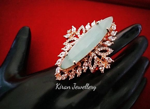 Mint Stone Stylish AD Ring