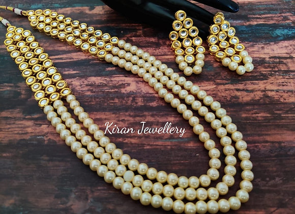 Pearl Kundan Necklace