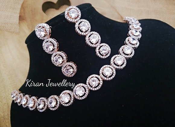 Elegant RoseGold Polish Necklace