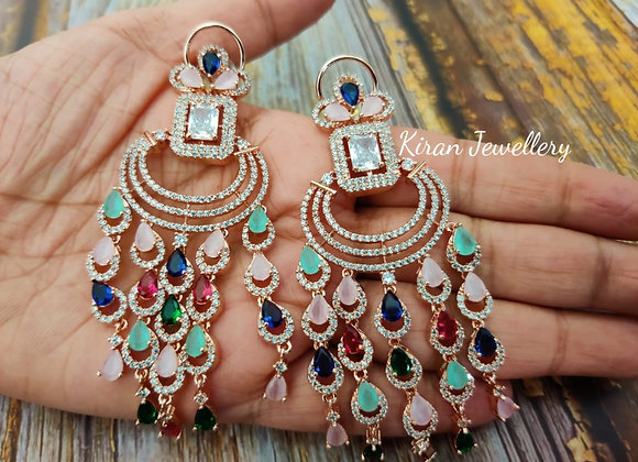 RoseGold Plated Multicolor Earrings