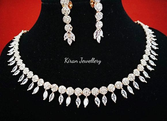 RoseGold Polish Sleek Necklace