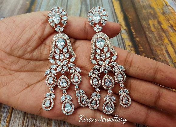 RoseGold Plated Elegant Earrings