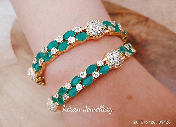 Elegant Green Color Bangles