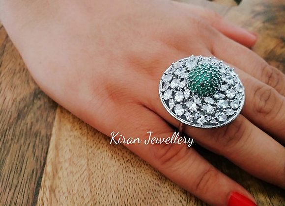 Lovely Ring With Stone Work
