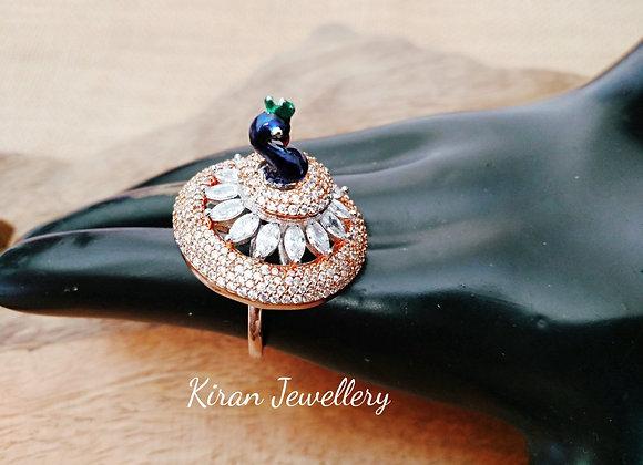 Rodegold Peacock Ring