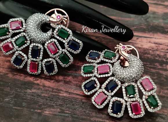 Multicolor Stylish Peacock Earrings