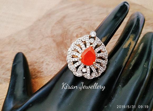 Orange Color AD Ring