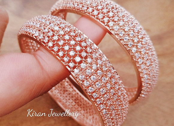 Rose Gold Polish Elegant Bangles