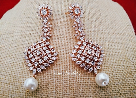 Elegant RoseGold Polish Earrings