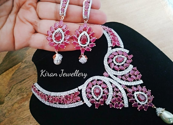 Ruby Color Stylish Necklace