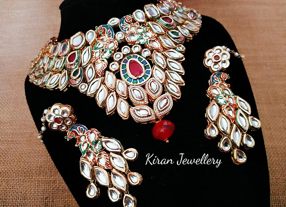 Peacock Kundan Necklace