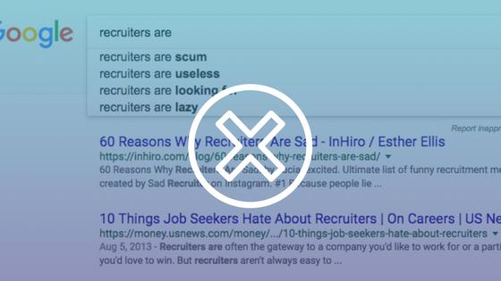 Negative recruiter stereotypes