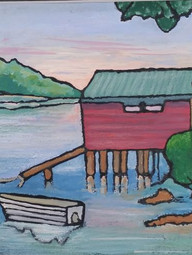 Sunset Hardy's Bay Boat Shed