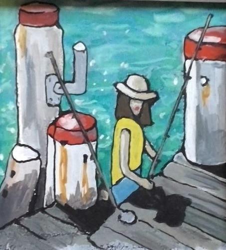 Fishing off the Wharf Hardy's Bay