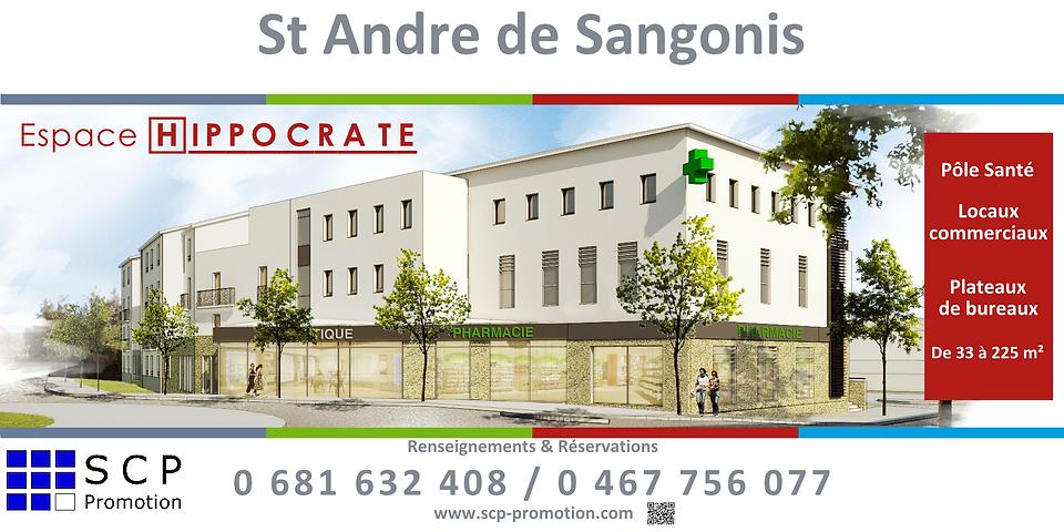 bureau, centre medical, pole sante, st andré de sangonis,  tertiaire, ideal profession medicale