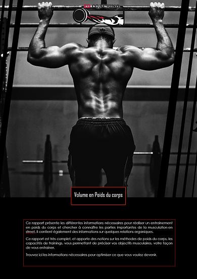 Programme en poids du corps - Volume