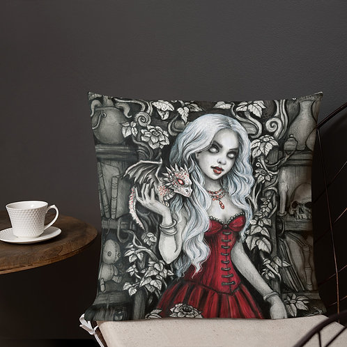 Morgana Dragon Sorceress Premium Pillow