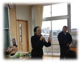 大口南小学校における花育教室