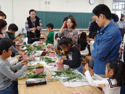 八熊小学校花育プロジェクト 2015