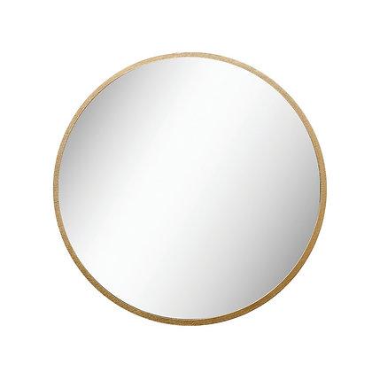 Round Metal Framed Wall Mirror, Gold  - CC
