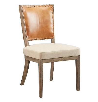 Lina Leather and Linen Chair - FC