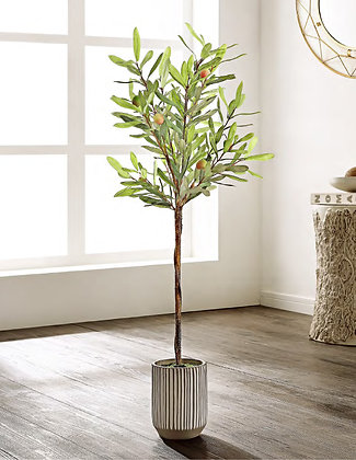FAUX OLIVE POTTED TREE - SAF