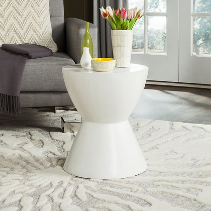 Athena Indoor / Outdoor Modern Concrete Round 17.7-inch H Accent Table - SAF