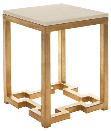 Ray Marble Top Gold Accent Table - SAF