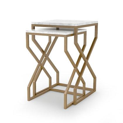 DENNI NESTING TABLES-MATTE BRASS - 4H