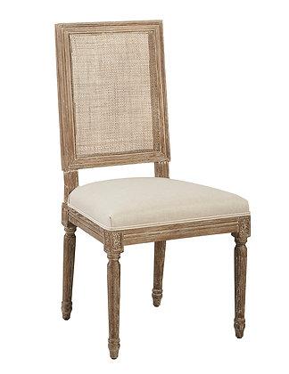 Linen & Oak Caned Back Side Chair - FC