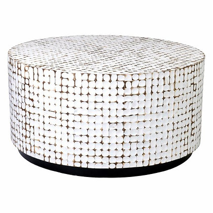East At Main Silvis Coconut Shell Coffee Table - JEFN