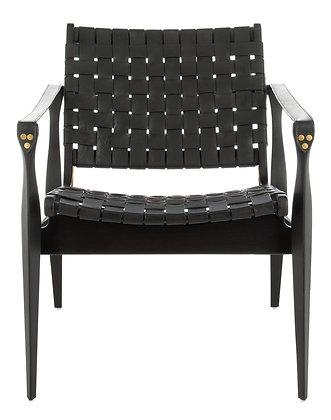 Dilan Leather Safari Chair - Black Mahogany - SAF
