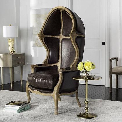 Sabine Brown Leather Chair - SAF